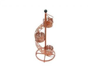 Ornamental Copper Swirl Garden Planter with 3 Baskets Special Offer! Now with free UK delivery!